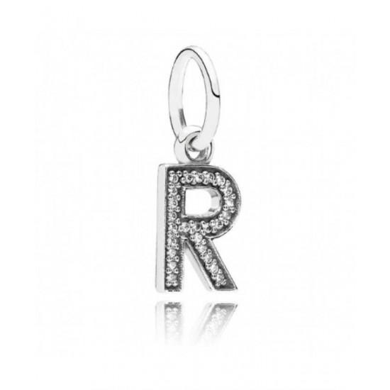 Pandora Pendant-Sparkling Alphabet R Jewelry