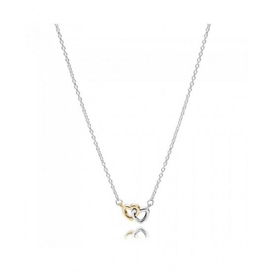 Pandora Necklace-Silver 14ct Gold United In Love Jewelry