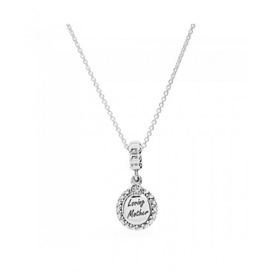 Pandora Necklace-Silver Loving Mother Jewelry
