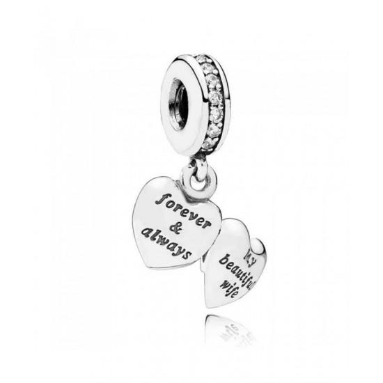 Pandora Pendant-Silver My Beautiful Wife Jewelry