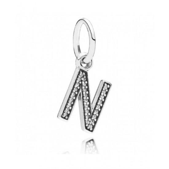 Pandora Pendant-Sparkling Alphabet N Jewelry