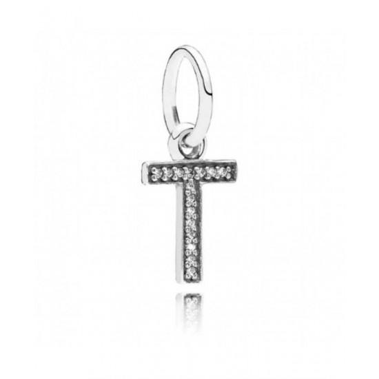 Pandora Pendant-Sparkling Alphabet T Jewelry