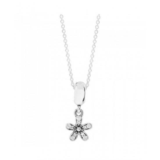 Pandora Necklace-Silver Daisy Jewelry
