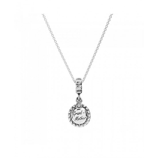 Pandora Necklace-Silver Grandmother Jewelry