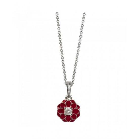 Pandora Necklace-Silver Oriental Bloom Jewelry