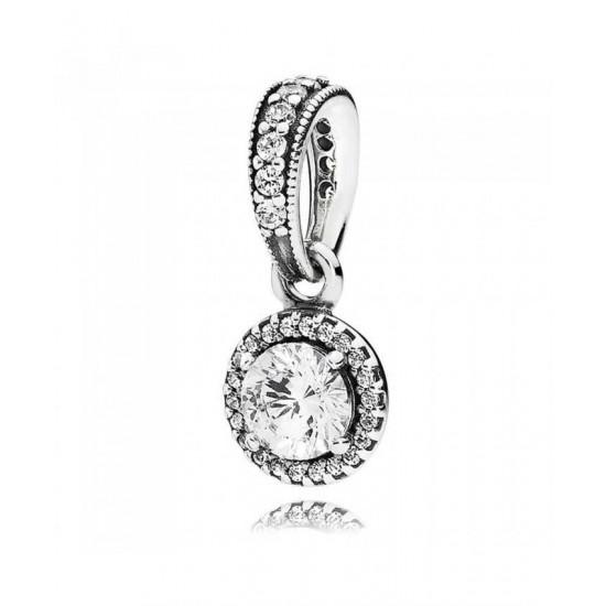 Pandora Pendant-Silver Classic Elegance Cubic Zirconia Jewelry