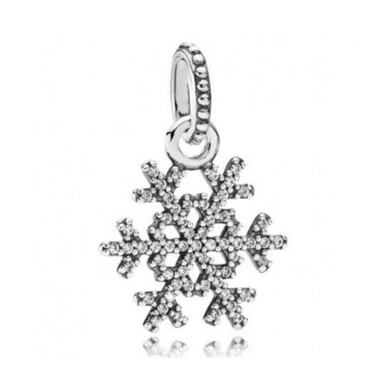 Pandora Pendant-Silver Clear Cubic Zirconia Snowflake Jewelry