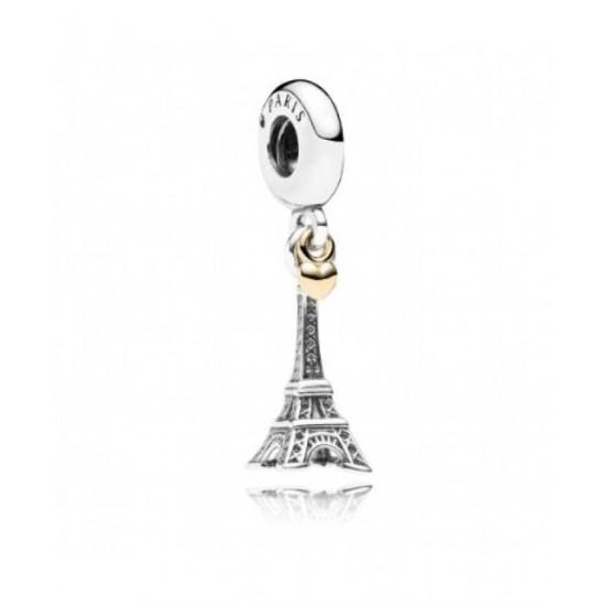Pandora Pendant-Silver Eiffel Tower 14ct Gold Jewelry