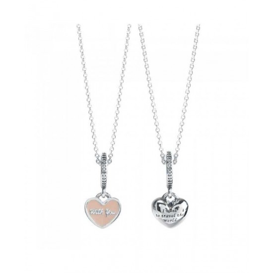 Pandora Necklace-Silver Travel World Complete Jewelry