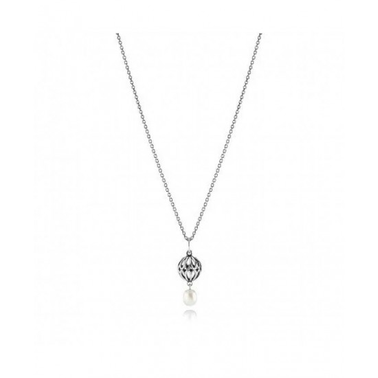 Pandora Necklace-Sterling Silver White Freshwater Pearl Jewelry