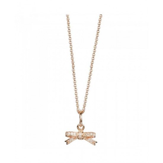 Pandora Necklace-Rose Sparkling Bow Online Jewelry
