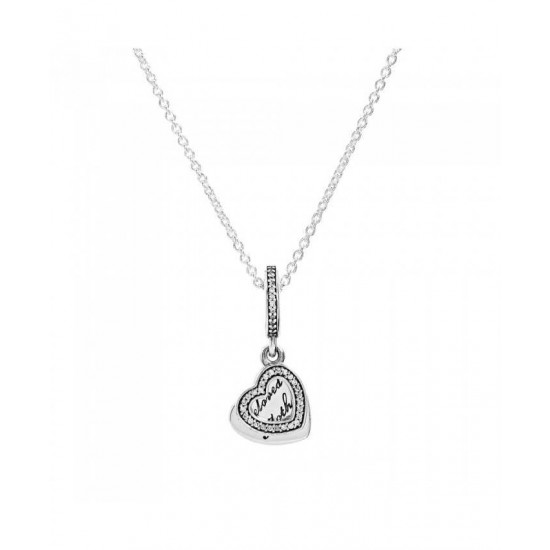Pandora Necklace-Silver Beloved Mother Jewelry