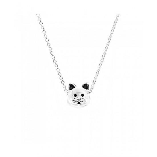 Pandora Necklace-Silver Curious Cat Jewelry