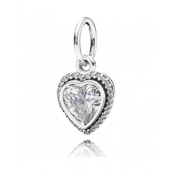 Pandora Pendant-Silver Sparkling Love Cubic Zirconia Heart Jewelry