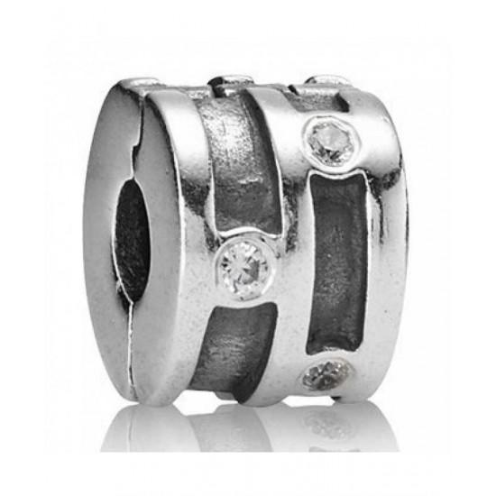 Pandora Clip-Silver Cz Line Jewelry