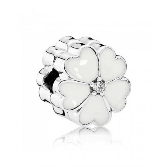 Pandora Clip-White Primrose Jewelry