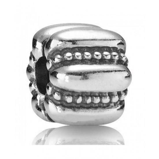 Pandora Clip-Silver Ridged Spacer Sale Jewelry
