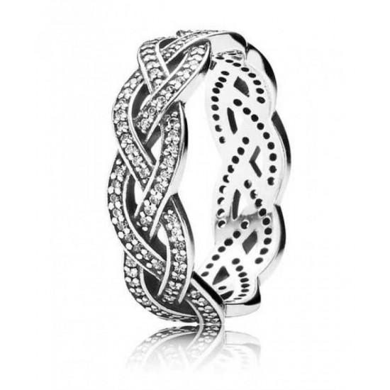 Pandora Ring-Braided Band Jewelry