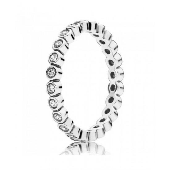 Pandora Ring-Silver Small Round Cubic Zirconia Eternity Jewelry