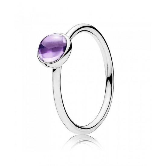 Pandora Ring-Purple Poetic Droplet Jewelry