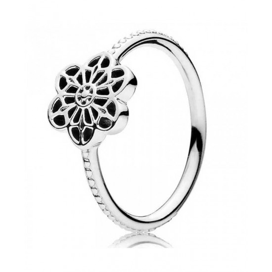 Pandora Ring-Silver Floral Daisy Lace Jewelry