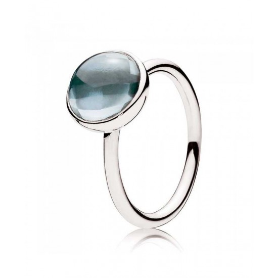 Pandora Ring-Blue Poetic Droplet Jewelry