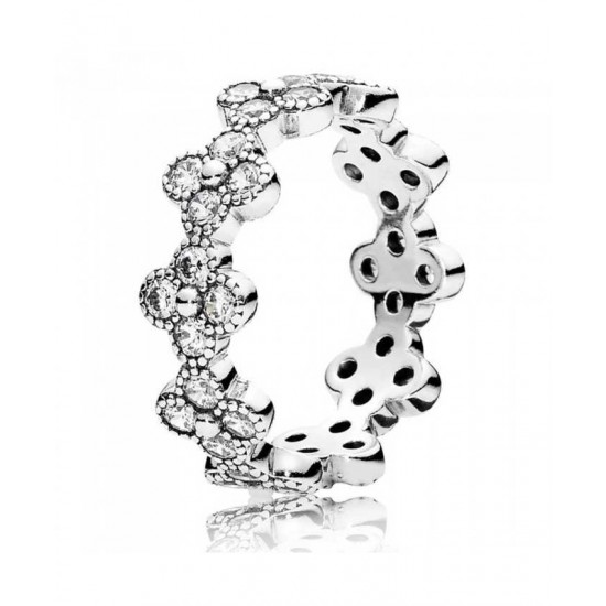Pandora Ring-Oriental Blossom Cubic Zirconia Band