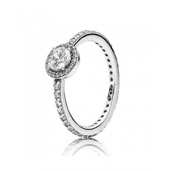 Pandora Ring-Silver Cubic Zirconia Classic Elegance Jewelry