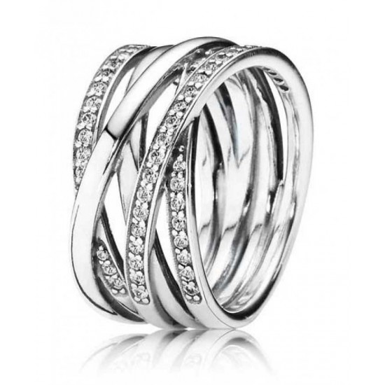 Pandora Ring-Entwined Cross Over Jewelry