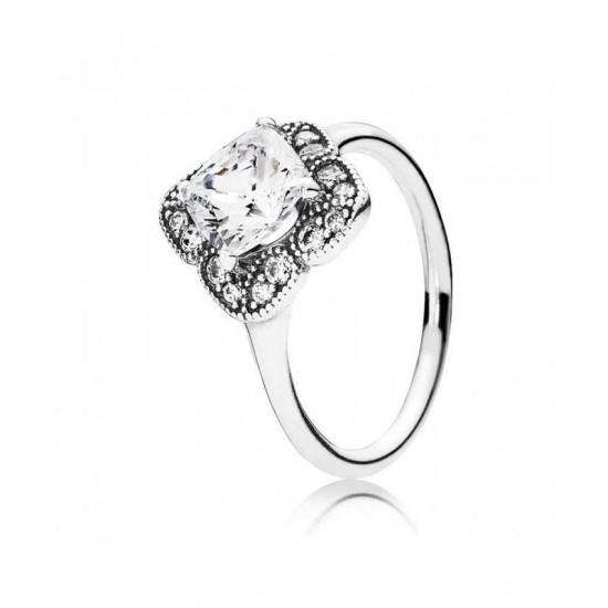 Pandora Ring-Silver Crystallised Floral Fancy Cubic Zirconia
