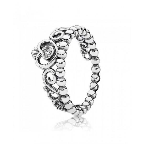 Pandora Ring-Silver Cubic Zirconia Tiara Jewelry