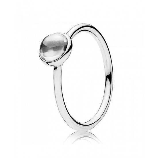 Pandora Ring-Silver Poetic Droplet Jewelry