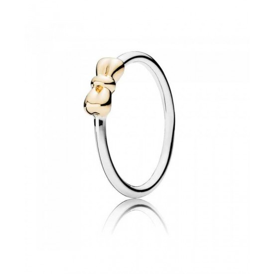 Pandora Ring-Silver 14ct Petite Bow Jewelry Outlet