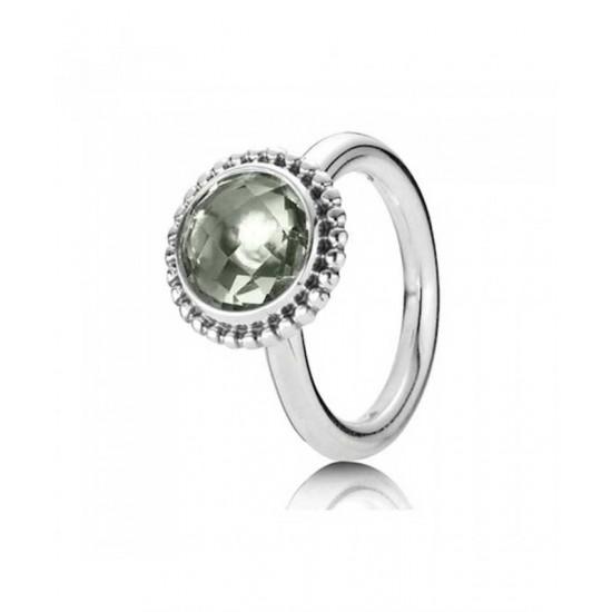 Pandora Ring-Silver Green Amethyst Jewelry