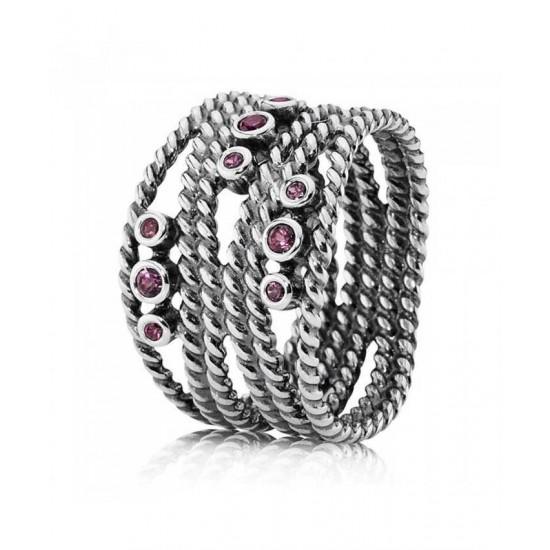 Pandora Ring-Silver Rhodolite Coil Jewelry
