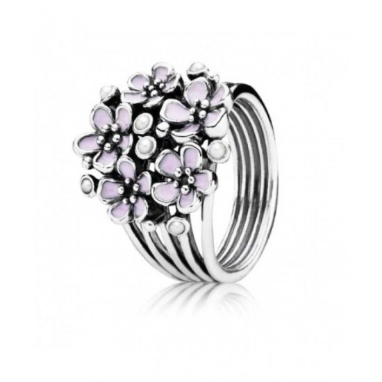 Pandora Ring-Silver Cherry Blossom Flower Cluster Jewelry