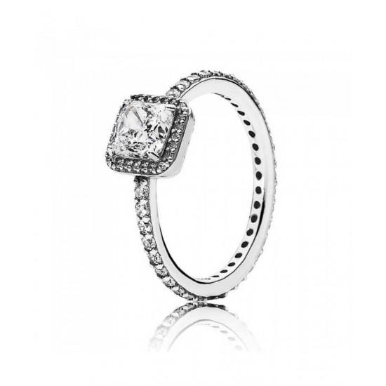 Pandora Ring-Silver Cubic Zirconia Timeless Elegance Jewelry