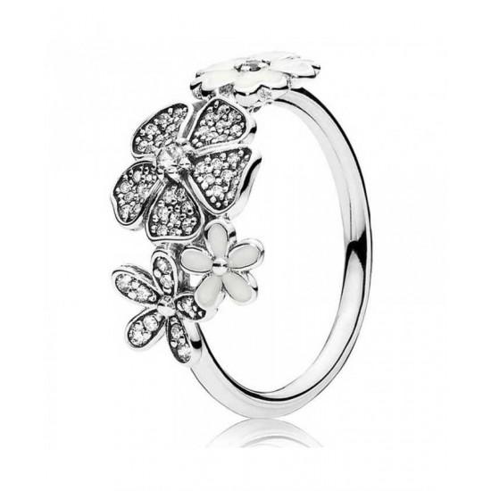 Pandora Ring-Silver Enamel Shimme Jewelry