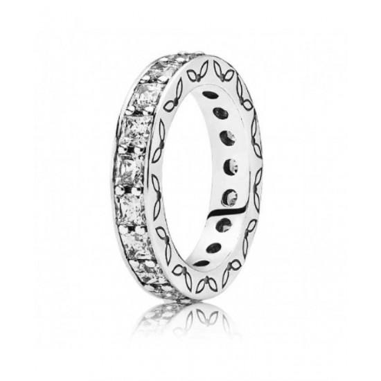 Pandora Ring-Silver Eternity Clear Cubic Zirconia Jewelry