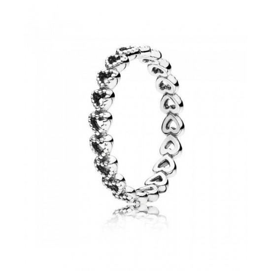 Pandora Ring-Silver Linked Love Jewelry