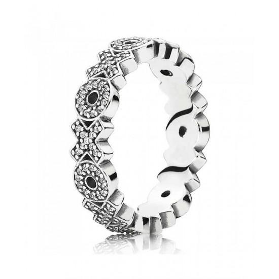 Pandora Ring-Silver Xoxo Band Jewelry
