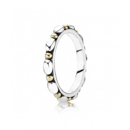 Pandora Ring-Silver 14ct Gold Oval Bead Jewelry